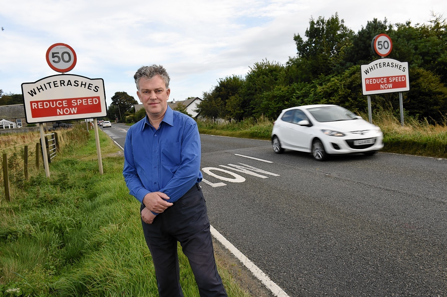 Councillor Martin Ford in Whiterashes. Credit: Kenny Elrick.