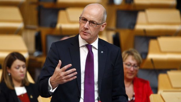 """Mr Swinney claimed """"all council tax income that is raised in all local authority areas will be retained in those local authority areas"""""""