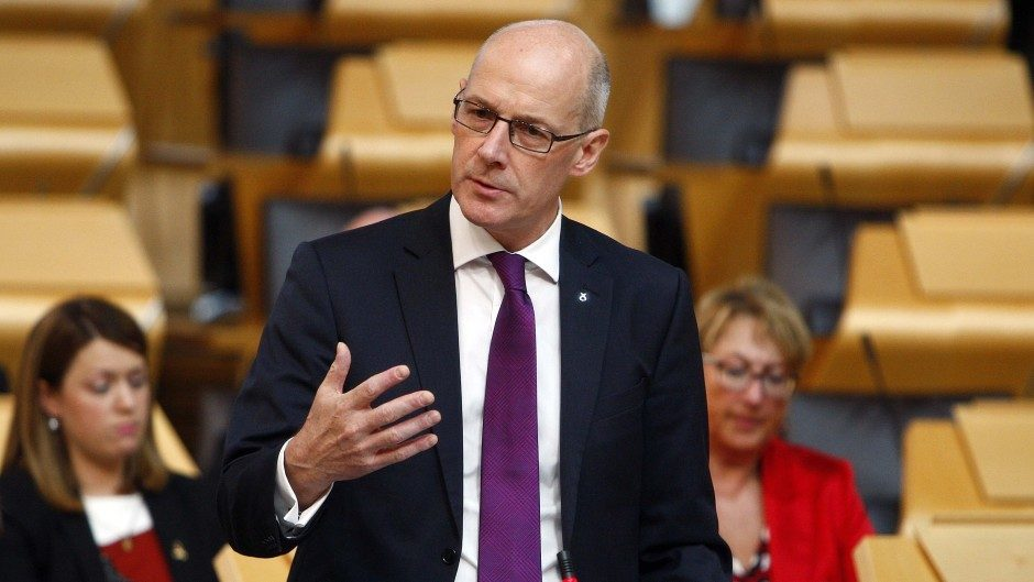 "Mr Swinney claimed ""all council tax income that is raised in all local authority areas will be retained in those local authority areas"""