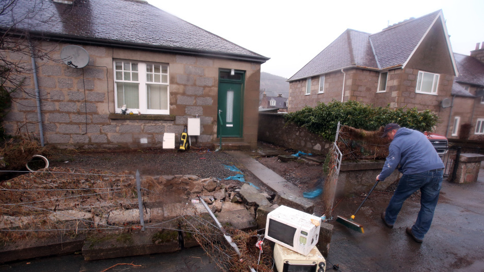 Hundreds of homes and businesses were affected by the flooding in Ballater last December