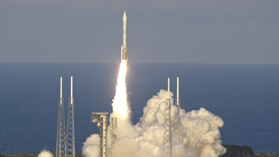 Nasa's Osiris-Rex lifts off from launch complex 41 at Cape Canaveral Air Force Station (AP)