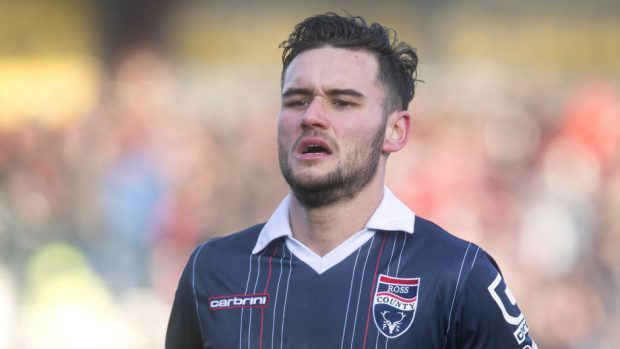 Alex Schalk missed a fine opportunity to equalise for Ross County.