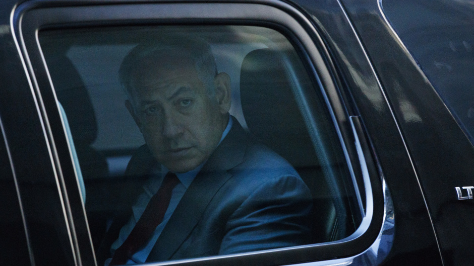 Israeli Prime Minister Benjamin Netanyahu leaves Trump Tower after a meeting with Donald Trump