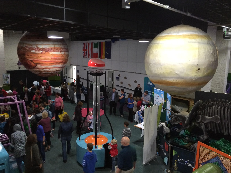 Inside Aberdeen Science Centre.