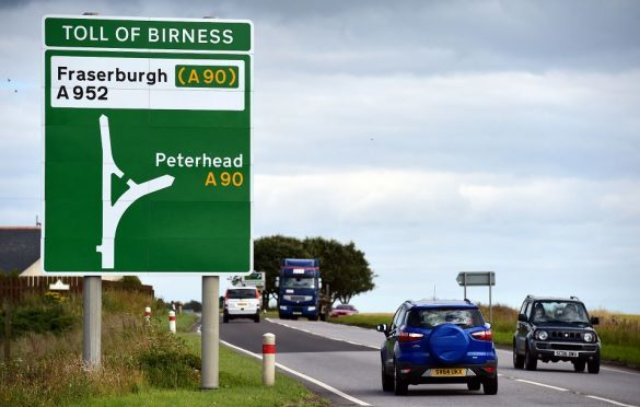 A90 north of Aberdeen