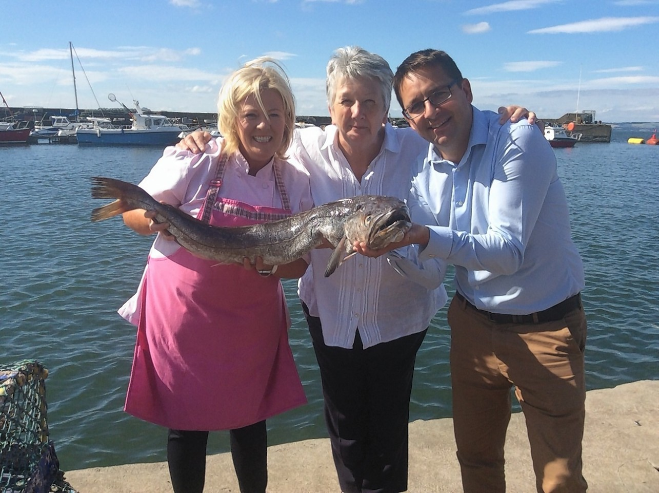 L-R: Jak O'Donnell, Ambassador for Taste the Wild, Shirley Spear, chairwoman of Scottish Food Commission, and James Withers, CEO Scotland Food & Drink