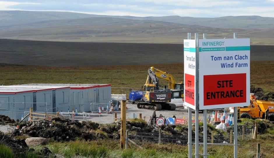 Golden Plover have intervened at Tom nan Clach windfarm.