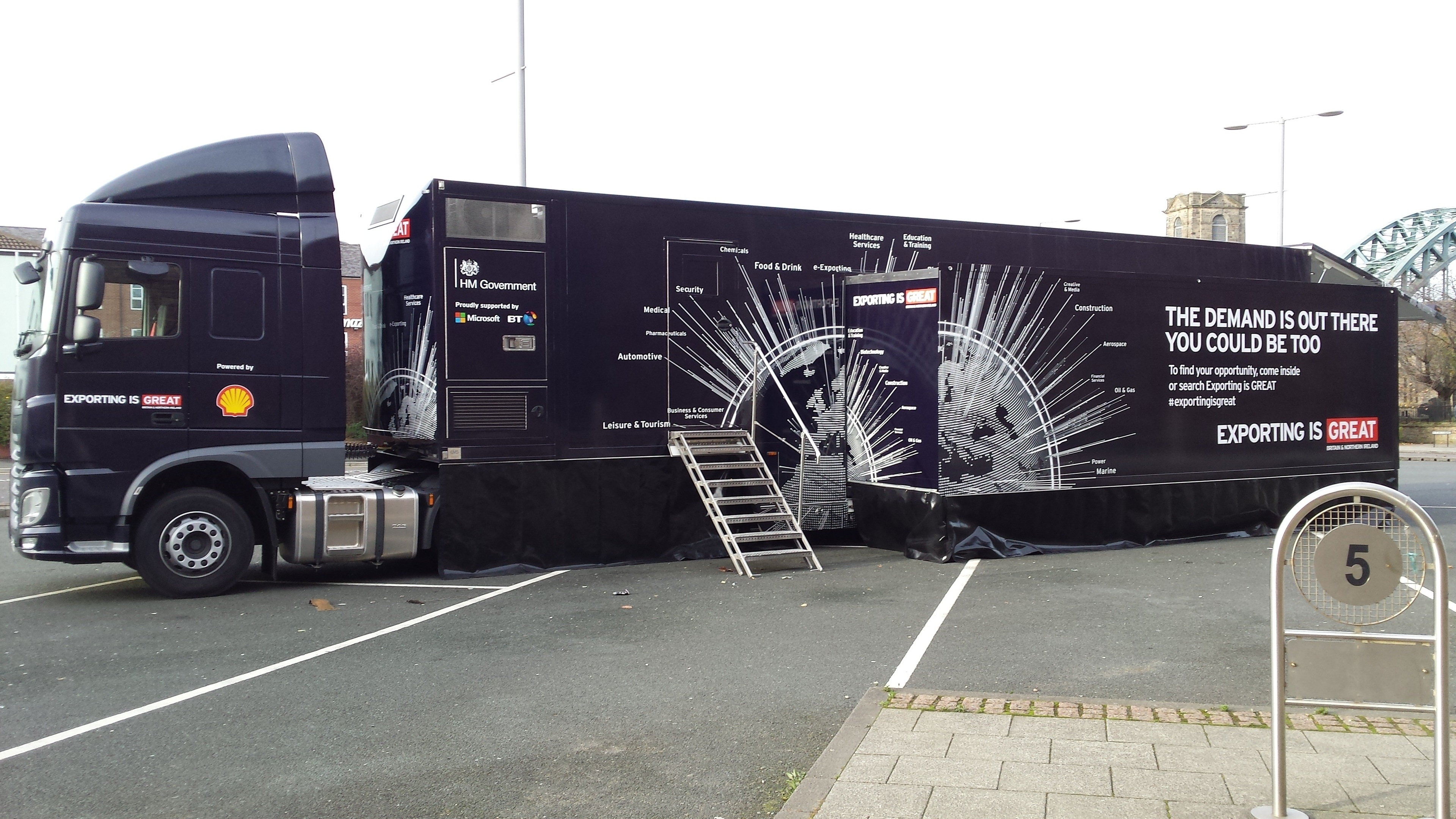 The Exporting is GREAT tour visited Inverness on Friday.