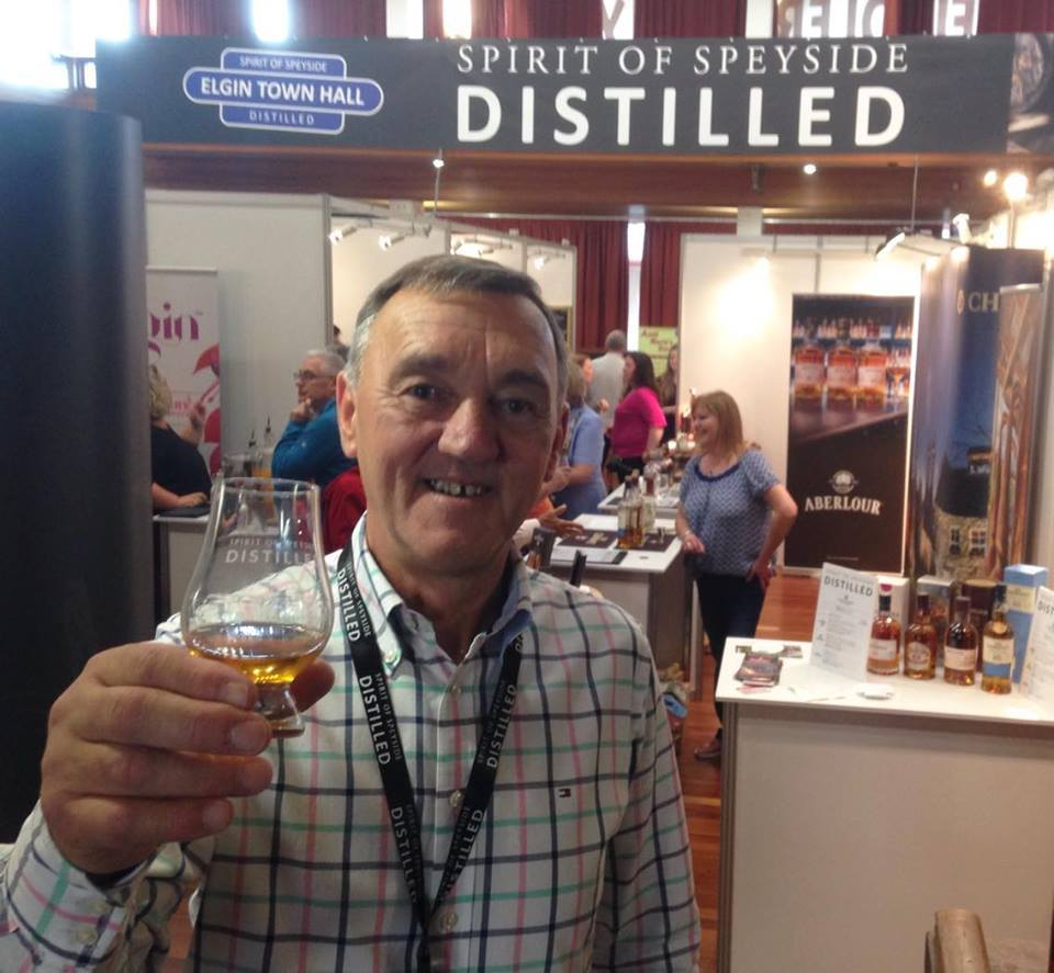 Spirit of Speyside Whisky Festival chairman James Campbell raises a glass to new Elgin event