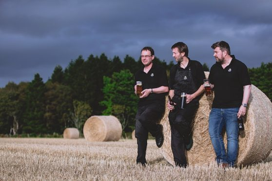 Steve Crossland, managing director, Neil Stirton, head brewer and George Wotherspoon, development director for Deeside Brewery