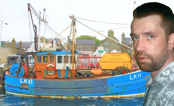 Photo of the scallop boat Diamond that sunk off Shetland with the loss of one life.  Photo by Ian Leask