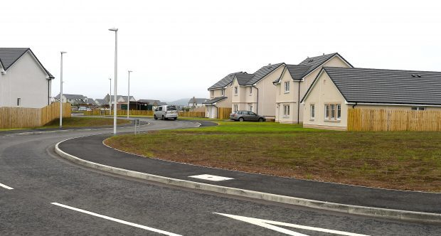 The current Tulloch Homes development at Chanonry.