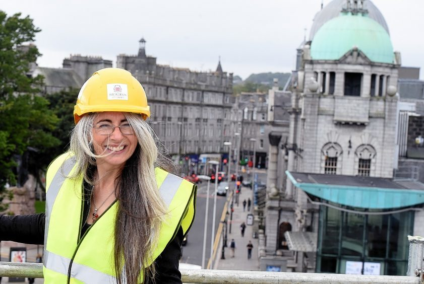 Dame Evelyn Glennie during a visit at Aberdeen Art Gallery
