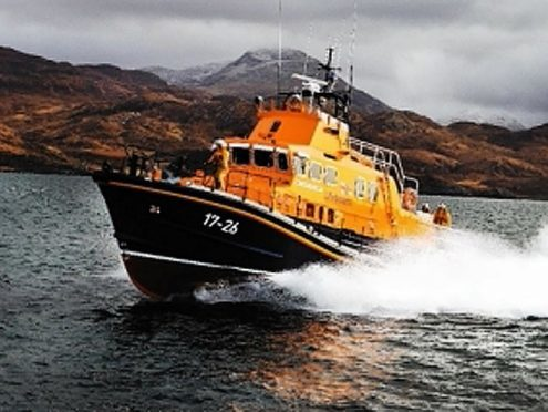 The Mallaig Severn class lifeboat was tasked to the incident