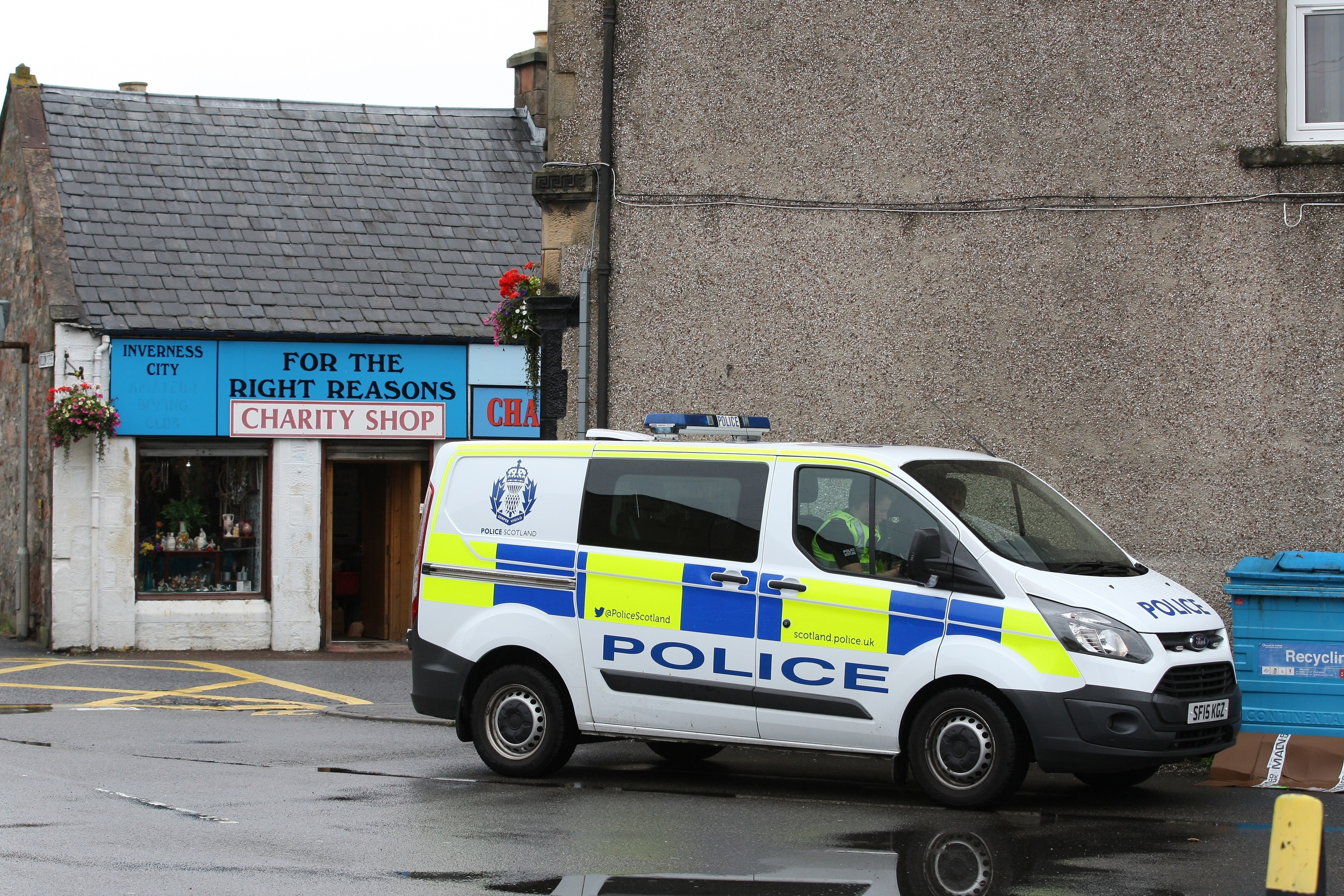 A female pedestrian was struck by a vehicle on the Grant Street pedestrian crossing in Inverness.