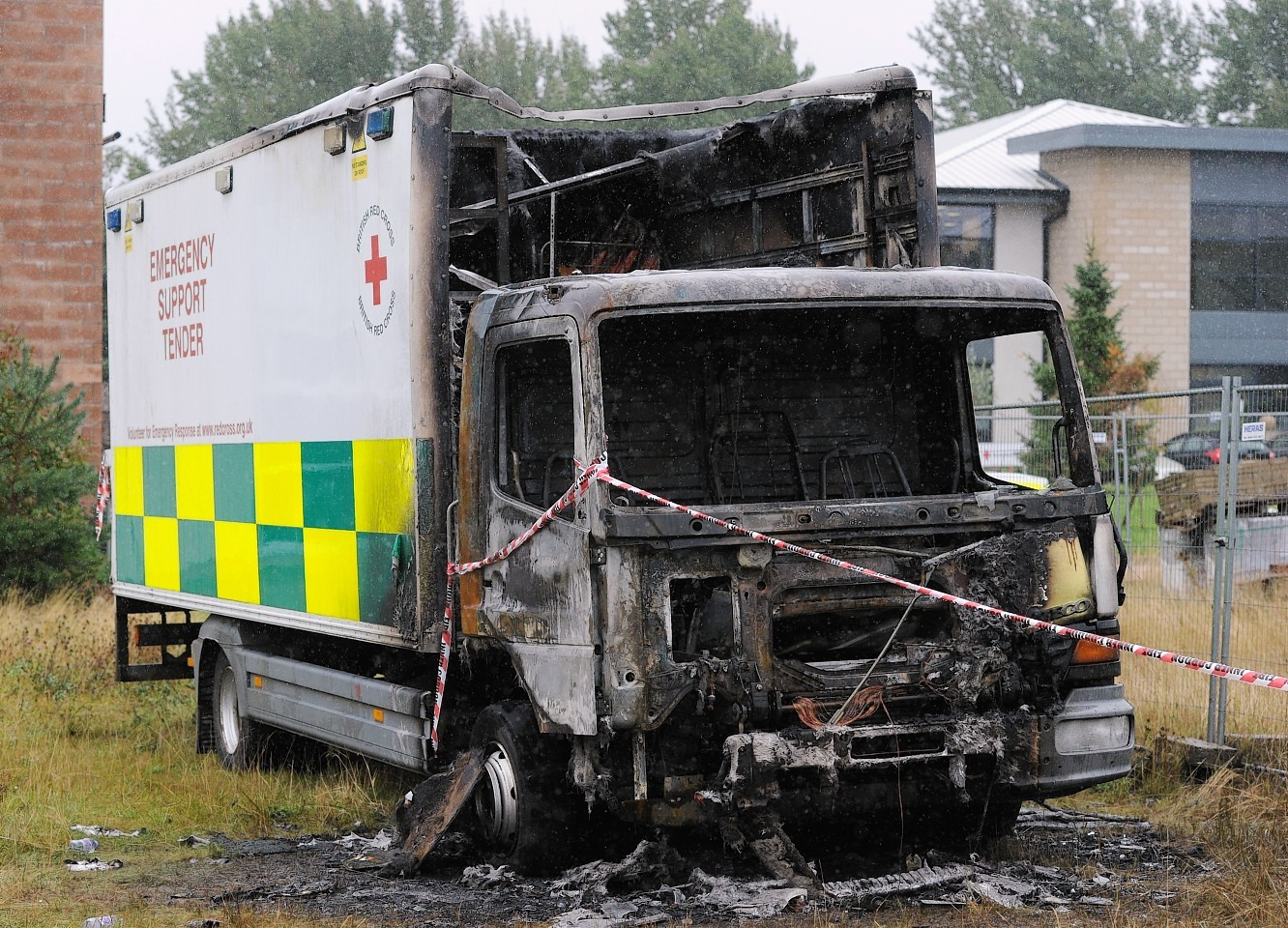 The Red Cross lorry was found in Cradlehall, Inverness