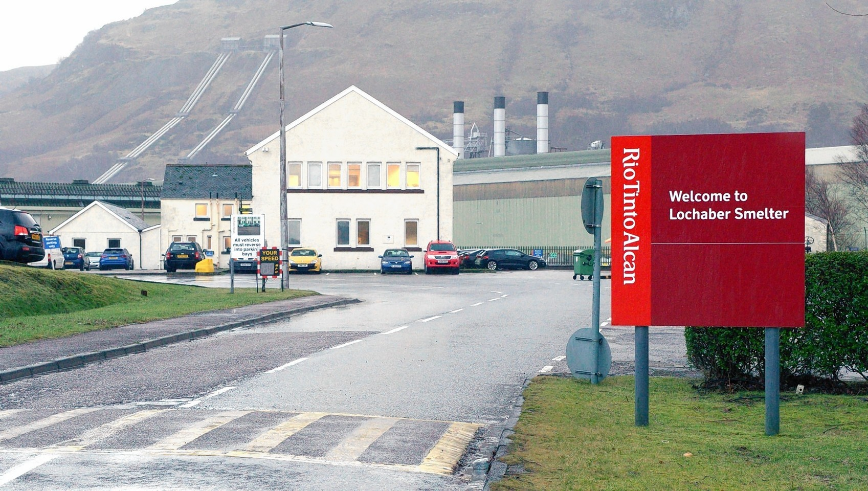 Rio Tinto smelter in Fort William