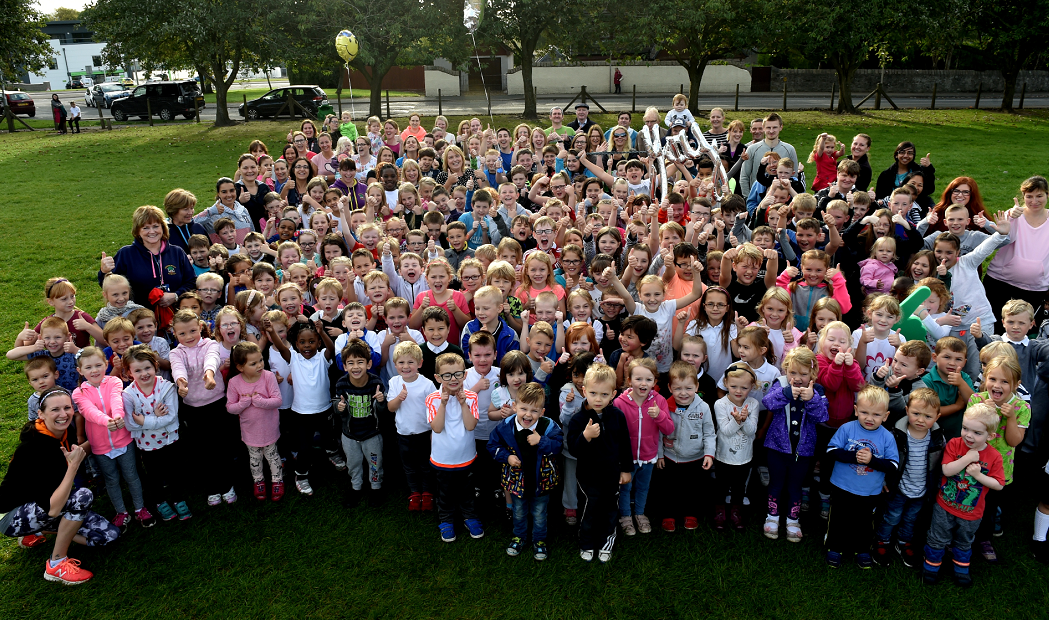 The school's around 200 pupils have been running a mile a day since March