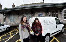 "L-R Sisters Emma and Hollie Petrie who are going to open a new cafe called ""Spider on a Bicycle"" in the old station at Station Square, Aboyne."