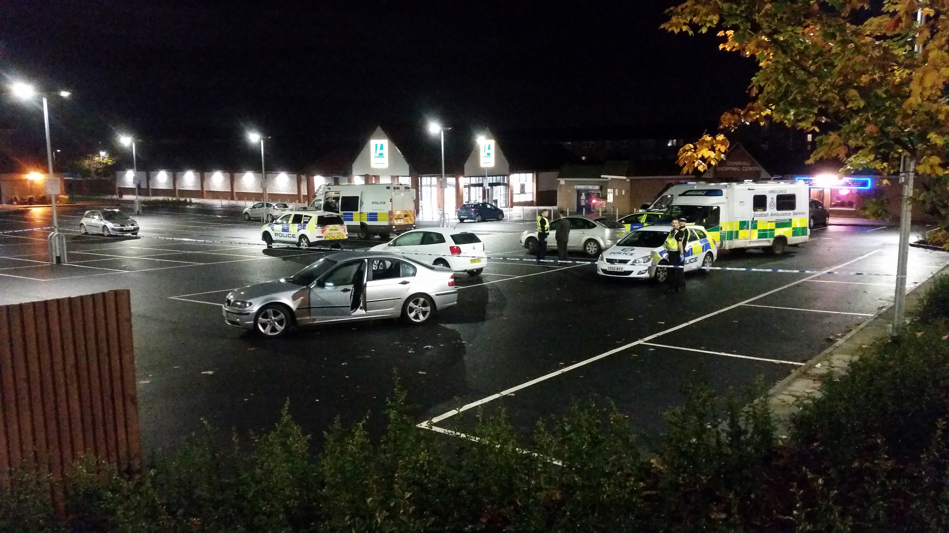 The incident took place outside Aldi.