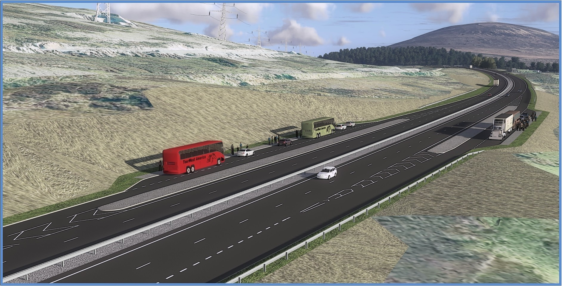 Artist impression of the A9 dualling