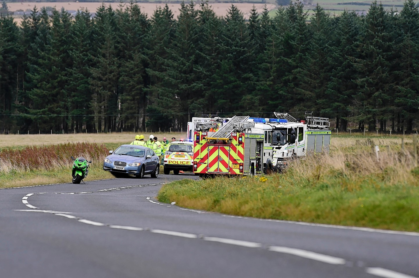 Scene of the crash on the A98