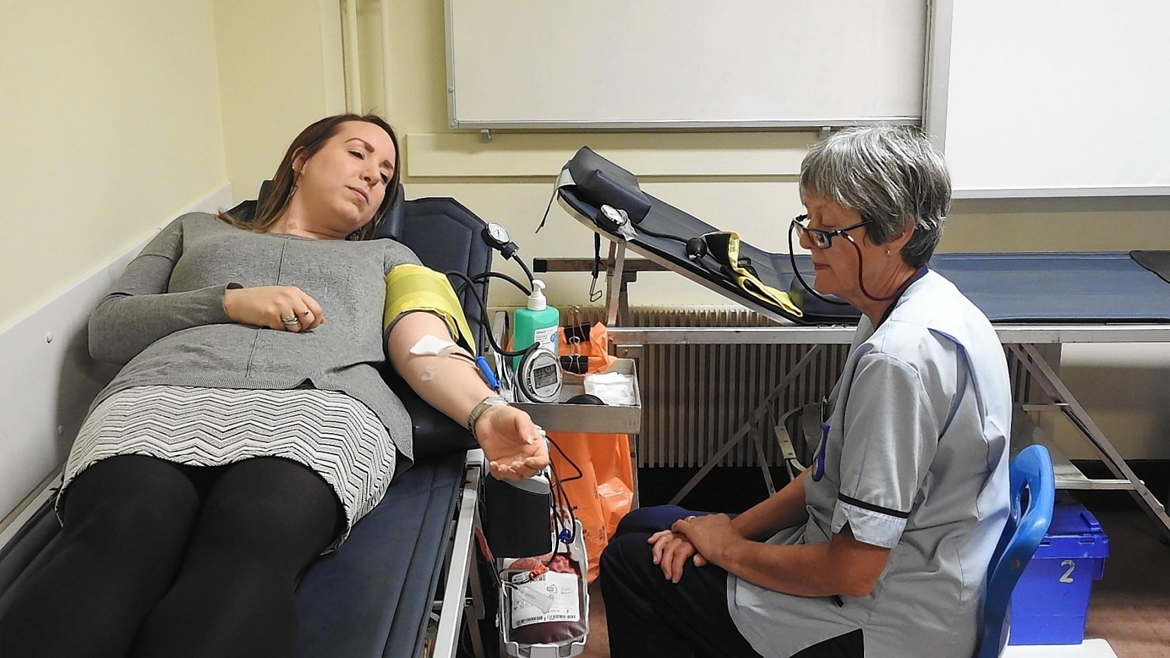Council staff and members have been doing their bit for the transfusion service.