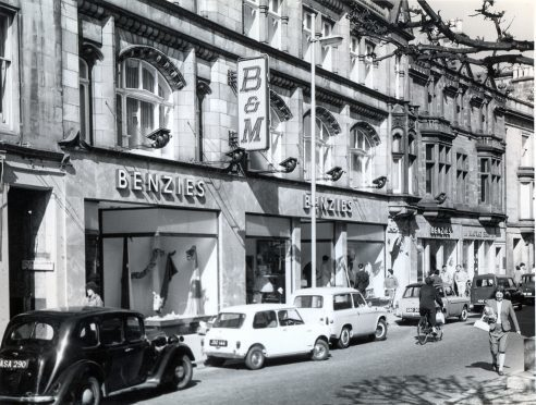 Benzie's department store occupied the St Giles Centre in the 1960s.