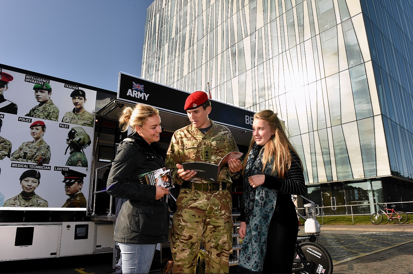 British Army recruitment at Aberdeen University