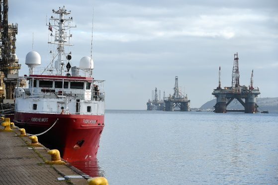 The North Sea downturn hit the Port of Cromarty Firth's profits and turnover in 2015.