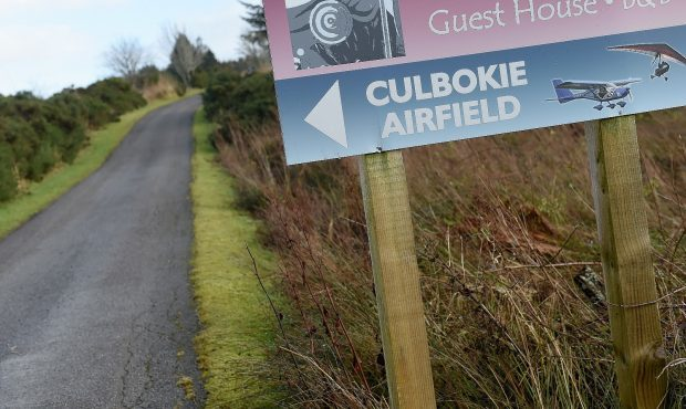 The accident happened at Culbokie Airfield