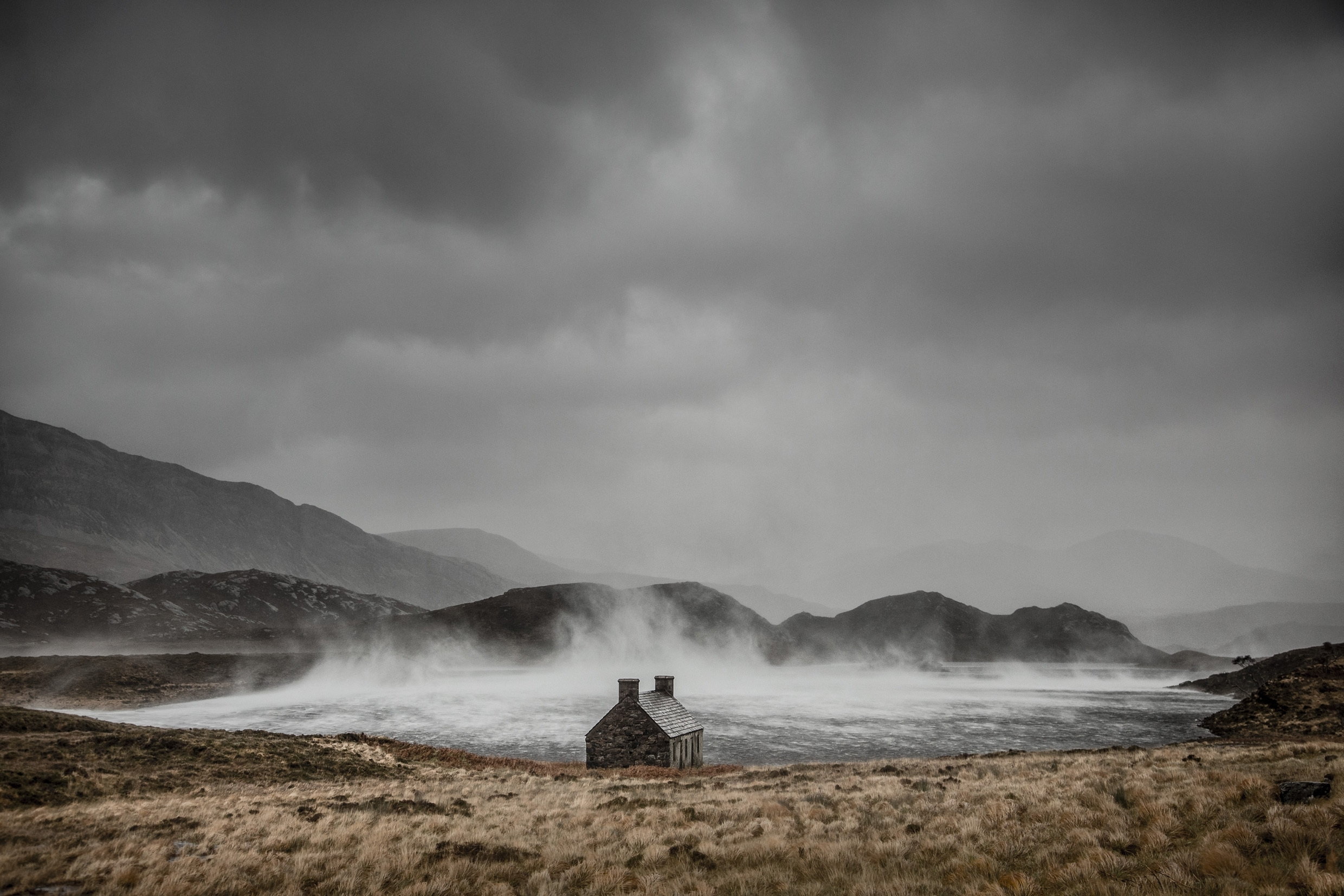 Dougie Cunningham  of Loch Stack in Sutherland, Scotland, entitled Shelter from the Storm