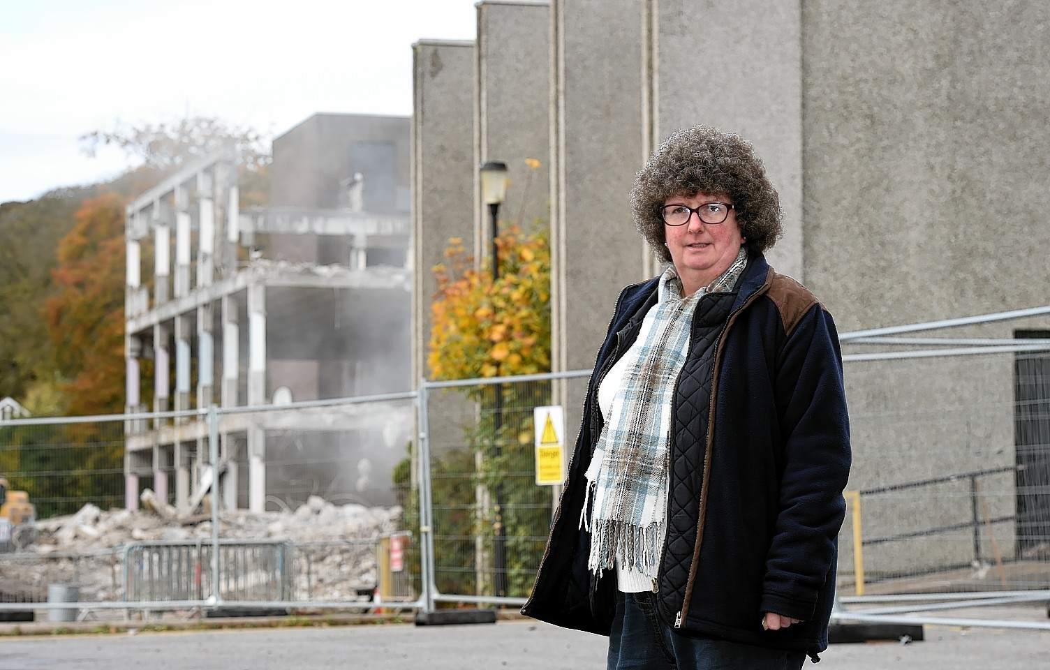 Gillian Owen outside the old Ellon Academy yesterday