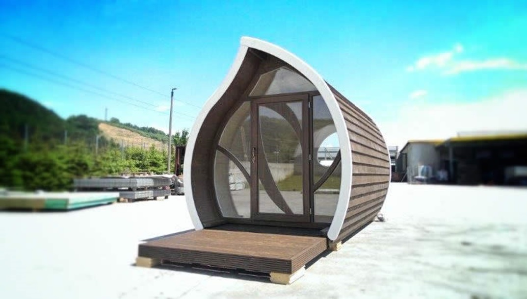An artist's impression of a glamping pod.