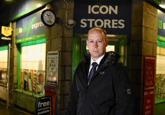 DI Lee Jardine outside the Aberdeen store
