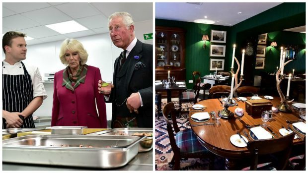 Prince Charles is toured around the Rothesay Rooms. Credit: Kami Thomson.
