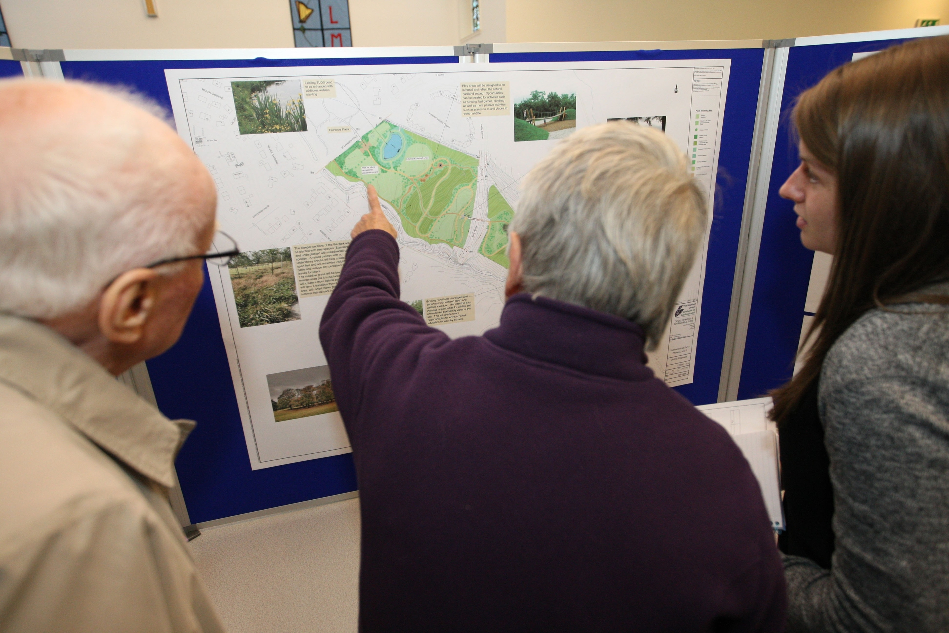 Plans for phases two and three of Inshes Park development have gone on display at Inshes Church.