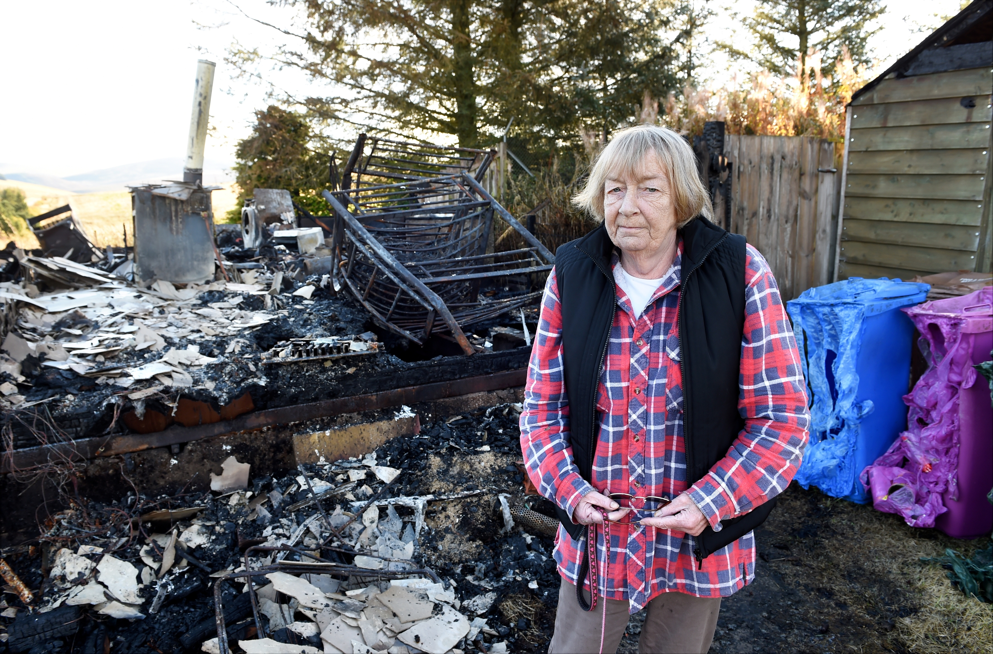 Joanna Davidson who lost everything after a fire destroyed her home near Tomintoul.