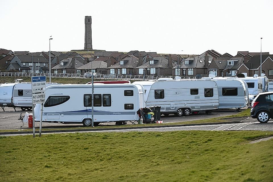 Travellers at Lido Car Park, Peterhead
