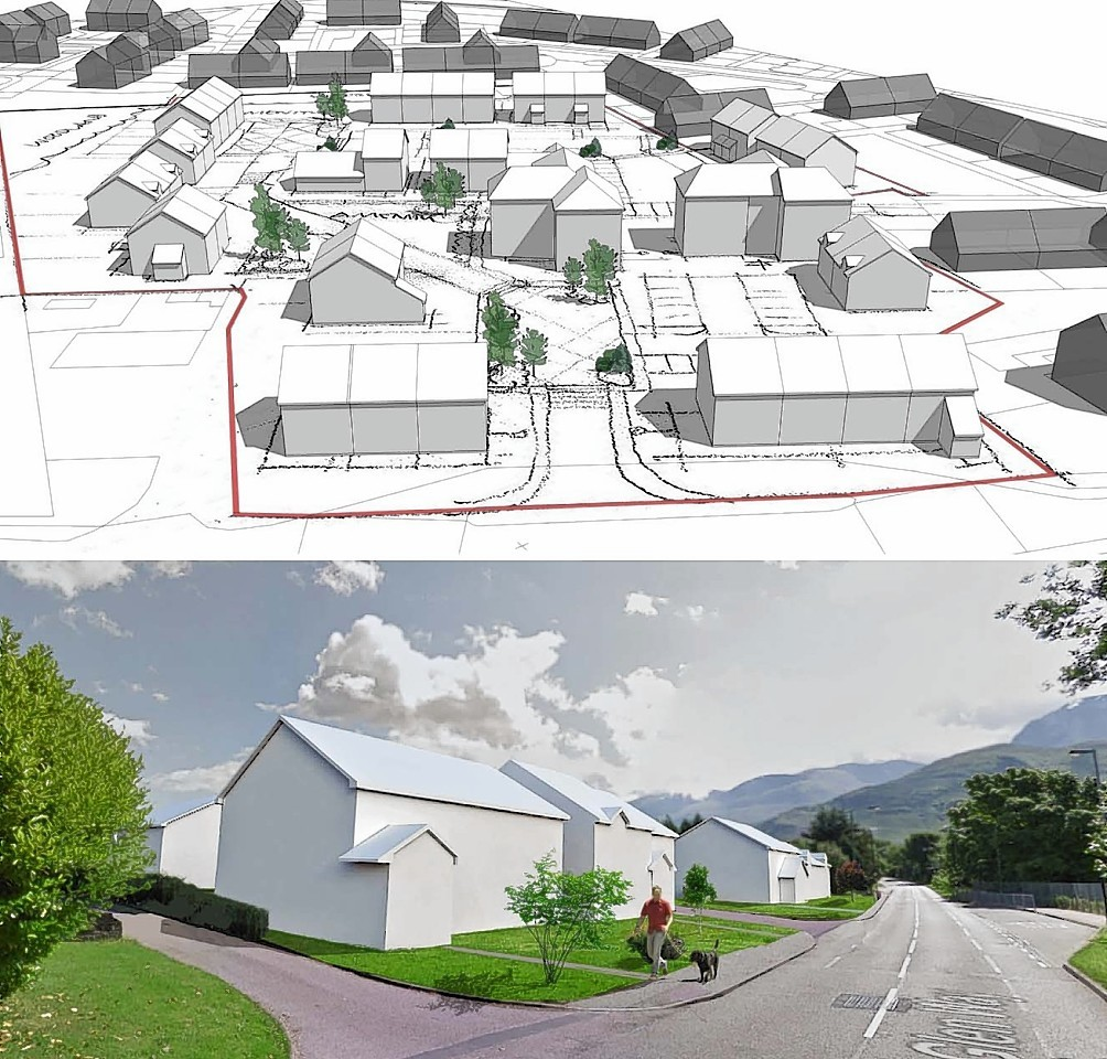 Artist's impression of the proposed affordable housing development at Lochyside