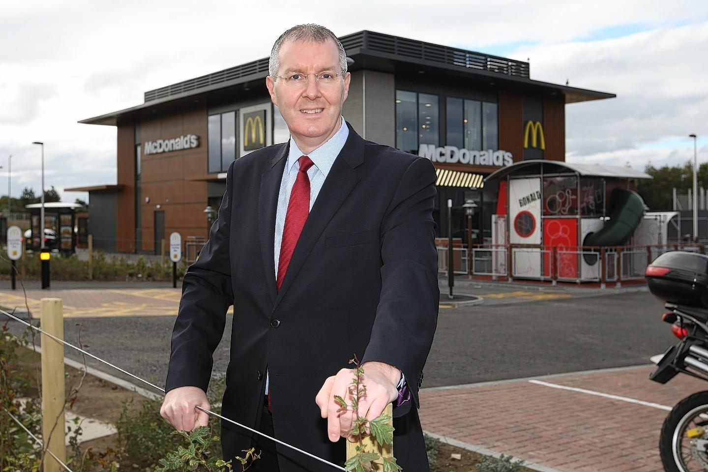 Duncan Macpherson outside McDonald's Inverness