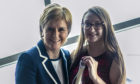 First Minister Nicola Sturgeon handed over a personal letter in a bottle to Emily Plant in Iceland.