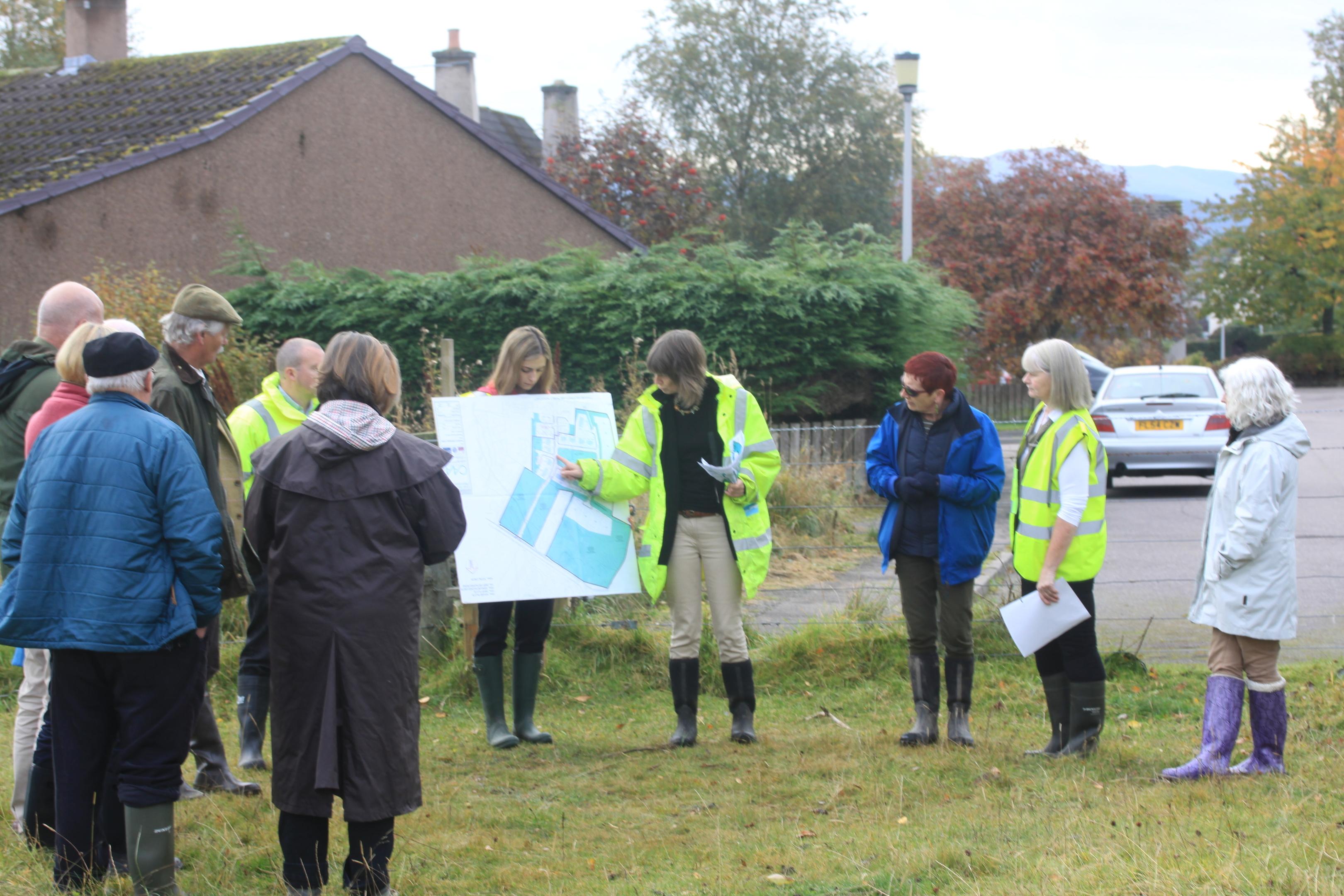Committee members at the site visit in Grantown