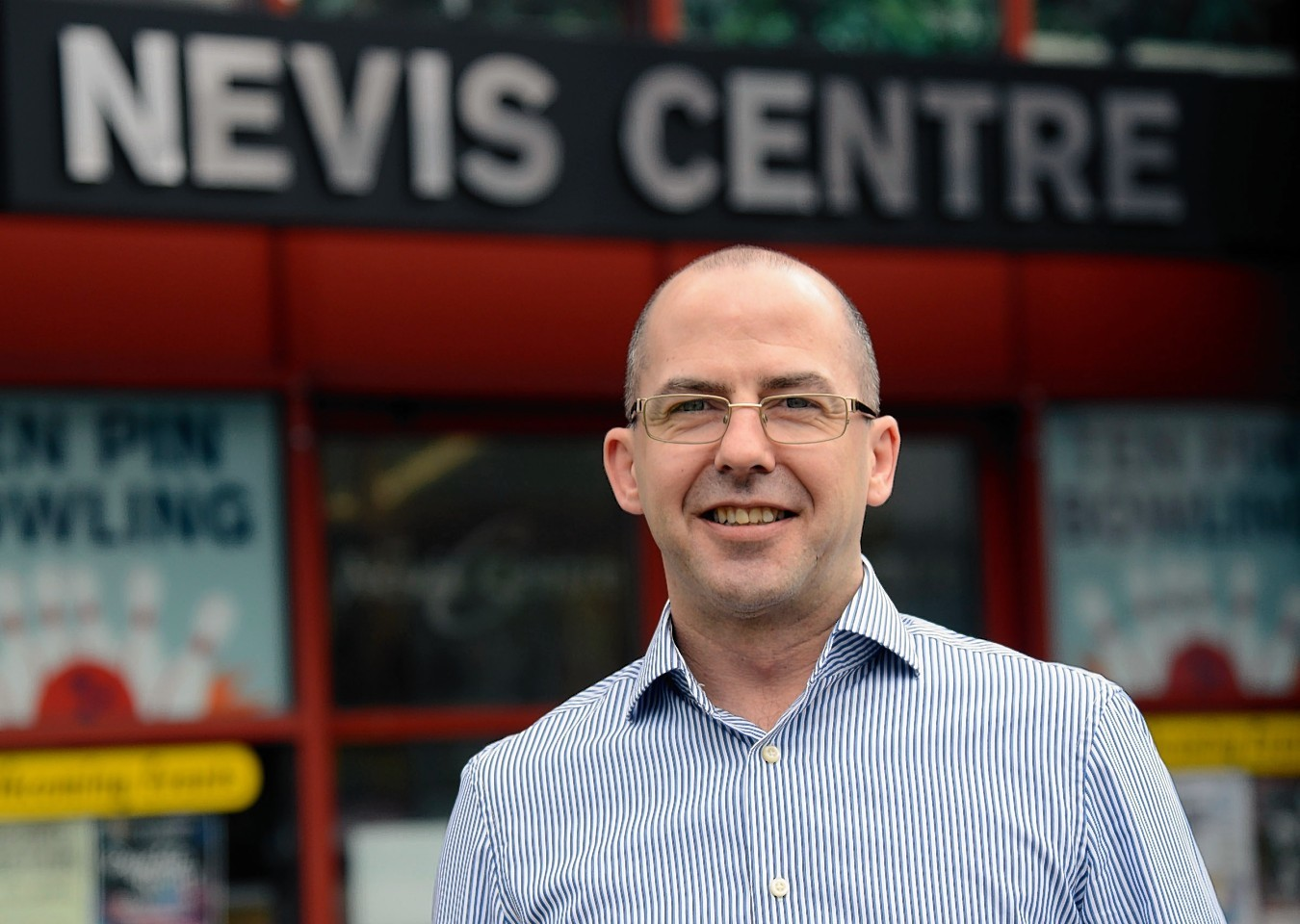 Kenny McLaughlin, manager of the Nevis Centre in Fort William which faces a huge cut in its council grant.