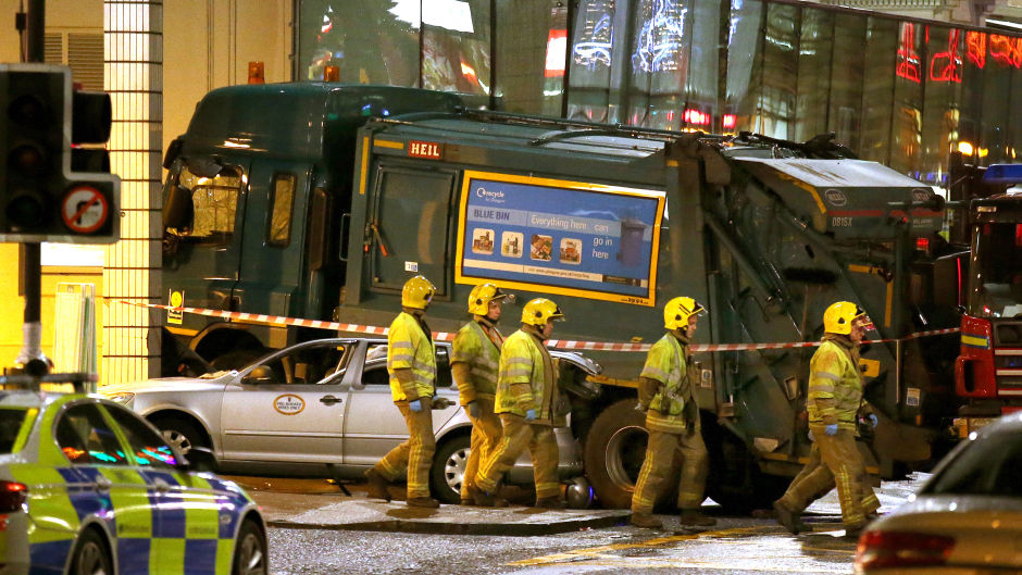 Harry Clarke was driving the bin lorry when it went out of control in Queen Street in the centre of Glasgow in December 2014
