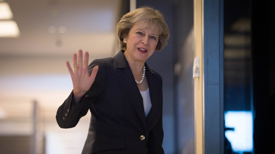 Prime Minister Theresa May ahead of the Conservative party conference in Birmingham