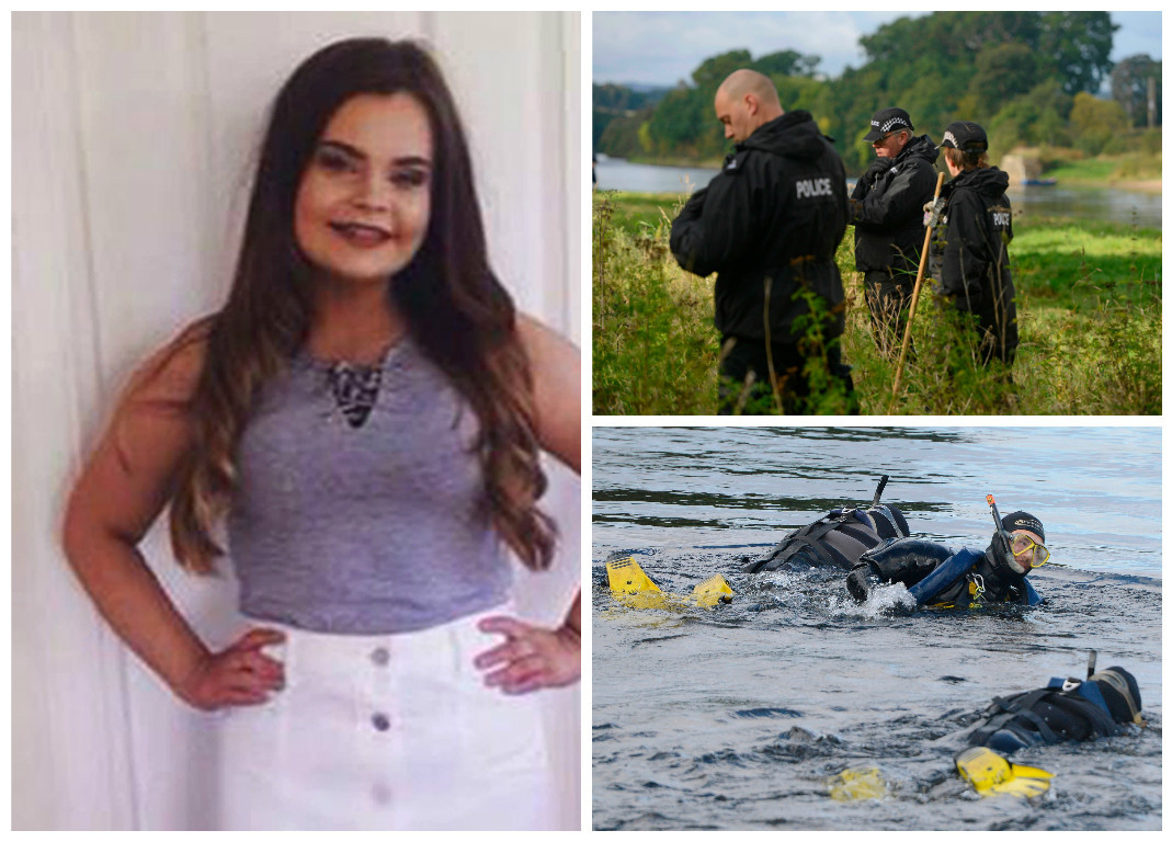Police teams searching the River Tay for Kathleen Harkin