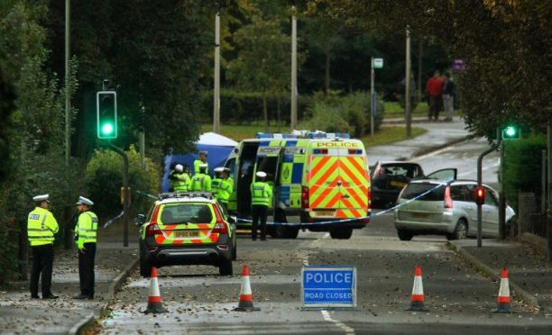 Scene of the accident in Coupar Angus