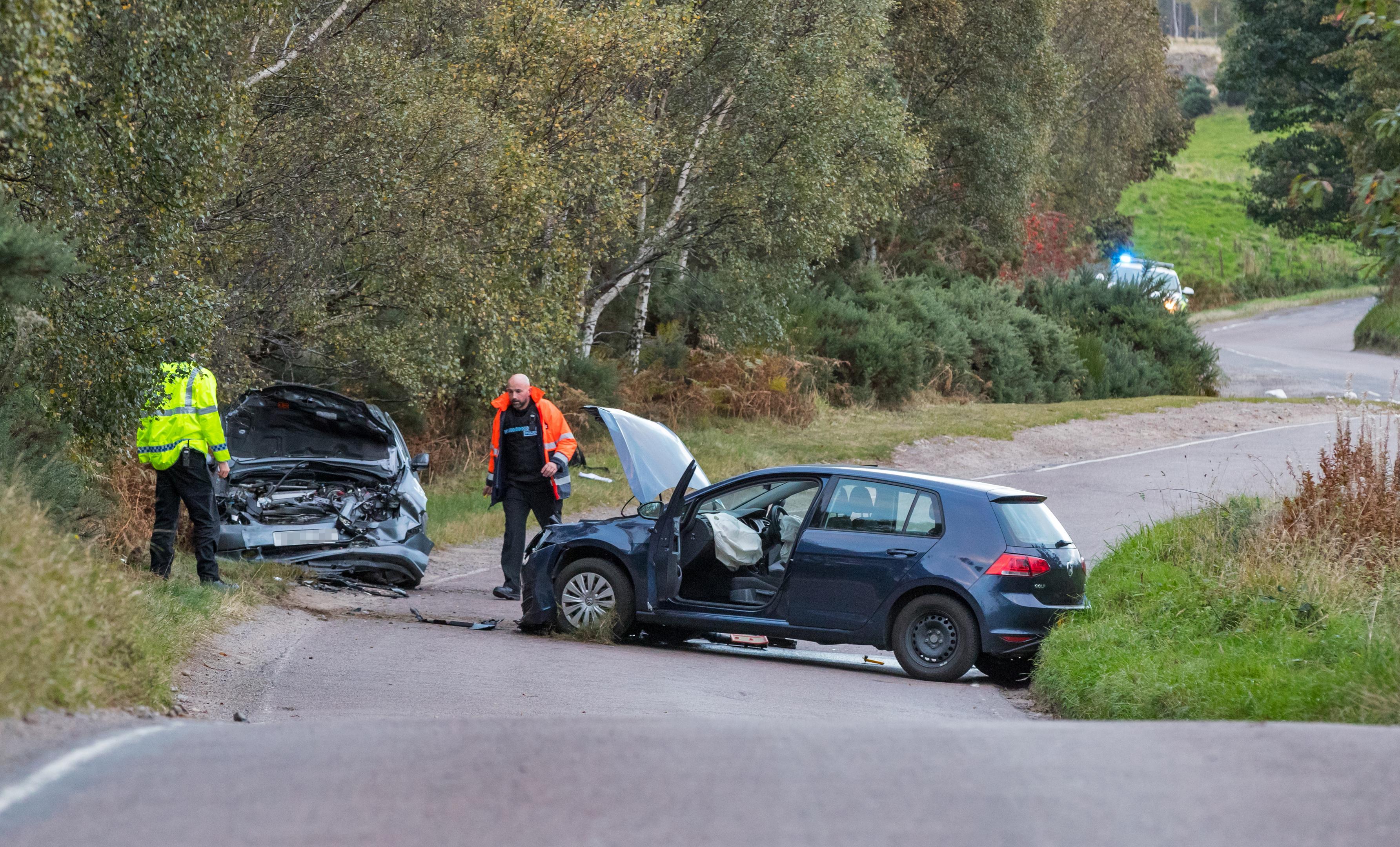 Scene of the crash in Moray