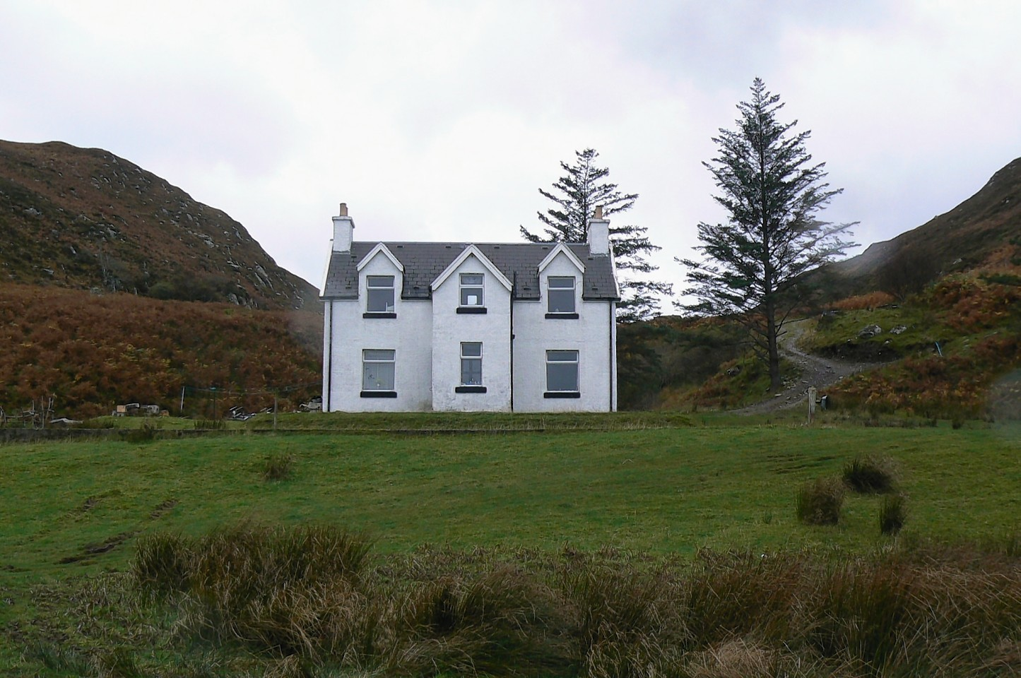 The home on Mallaig where the incident took place